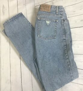 Vintage-1980s-GUESS-Jeans-Denim-80s-Mom-Jeans-High-Waist-32-x-34-Great-Fade