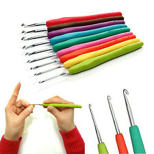 Plastic Aluminum Handle Crochet Hook Bamboo Knitting Knit Needle Weave Yarn Set