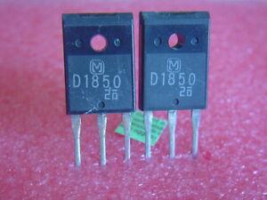 2 pcs 2SD1850 org.MATSUSHITA NPN Transistor, 120W NEU NOS