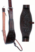 Horse Brown Leather Western Back Cinch Girth Saddle Flank Cinches 9744