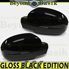 2007-2013 Silverado Sierra 1500 GLOSS BLACK Mirror Covers Overlays Trims w/PLH