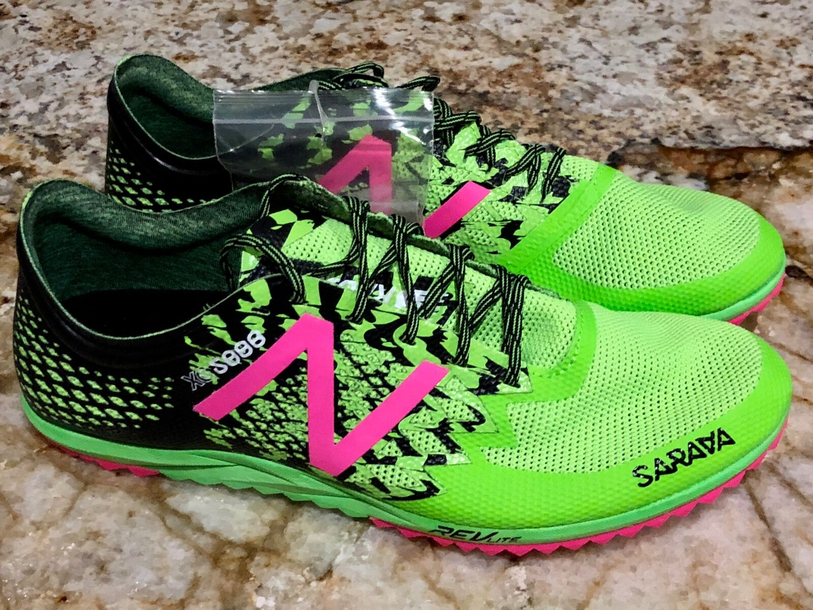 NEW BALANCE XC5000 v3 Lime Green Black Cross Country Track Spikes shoes Mens 9