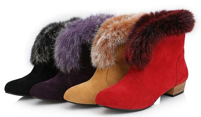 Bottines bottes chaussures femme talon 3 comme cuir laine polaire