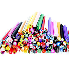 100x Mixed Nail Art Fimo Canes Stick Rods Polymer Clay Stickers Tips Deco Beauty