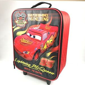 1f5ac370038e Details about Disney Pixar Lightning McQueen Rolling Suitcase Travel  Luggage Bag Handle 15