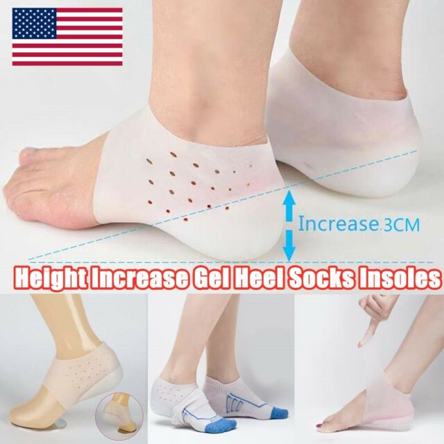 Shoe Lift Height Men Women Half Lift Height Increase Insoles 5cm Invisible Shoes Heel Taller Pads