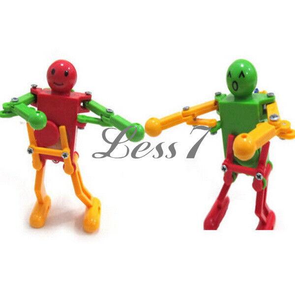Children Kids Toy Gift Clockwork Spring Yellow Green Red Wind Up Dancing Robot
