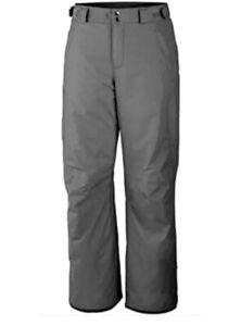 Columbia Hombres Artico Viaje Omni Heat Termico Reflexivo Nieve Pantalones Gris Tamano Xs Ebay
