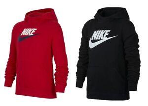Nike-Boys-Kids-NSW-Junior-Fleece-Hoodie-Hoody-Sweatshirt-Sweater-Hooded-Top