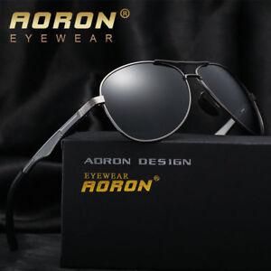 AORON-Herren-Retro-Metall-Polarisierend-Pilot-Sonnenbrille-Fahren-Brillen