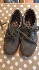 M\u0026S Kids Shoes, Grey Suede Brogues