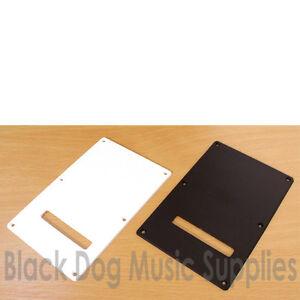 Guitar Tremolo back plate spring cavity cover white blank inc screws Strat