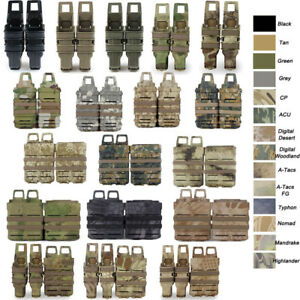 Tactical Military Magazine Pouch MOLLE Holster Carrier for 5.56 7.62 9mm 45aps