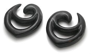 Deku Bouclier kayu Areng//bois noir Boucles d/'oreilles Body Jewelry-PRIX PAR 1