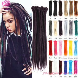 20'' Synthetic Dreadlocks Extensions Crochet Braid Dreads Hair Hippie Reggae