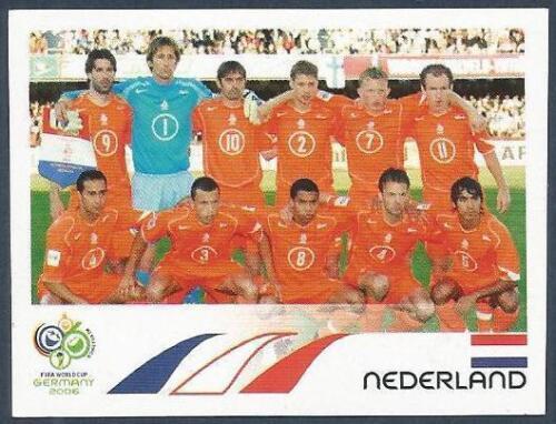 #226-HOLLAND TEAM PHOTO PANINI FIFA WORLD CUP-GERMANY 2006
