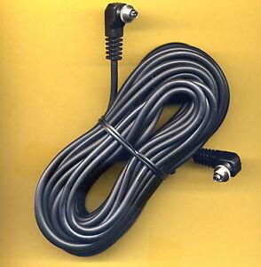 10m-Screw-Lock-Male-to-Male-PC-Sync-studio-Sincro-Lead-Cord-Cavo-Heavy-Duty