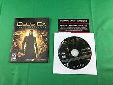 Deus Ex: Human Revolution (Sony PlayStation 3, 2011) DISC & MANUAL ONLY