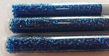 Miyuki  8/o Seed Beads TRANSPARENT CAPRI BLUE Three (3)  22 Gram Tubes 66 Grams!