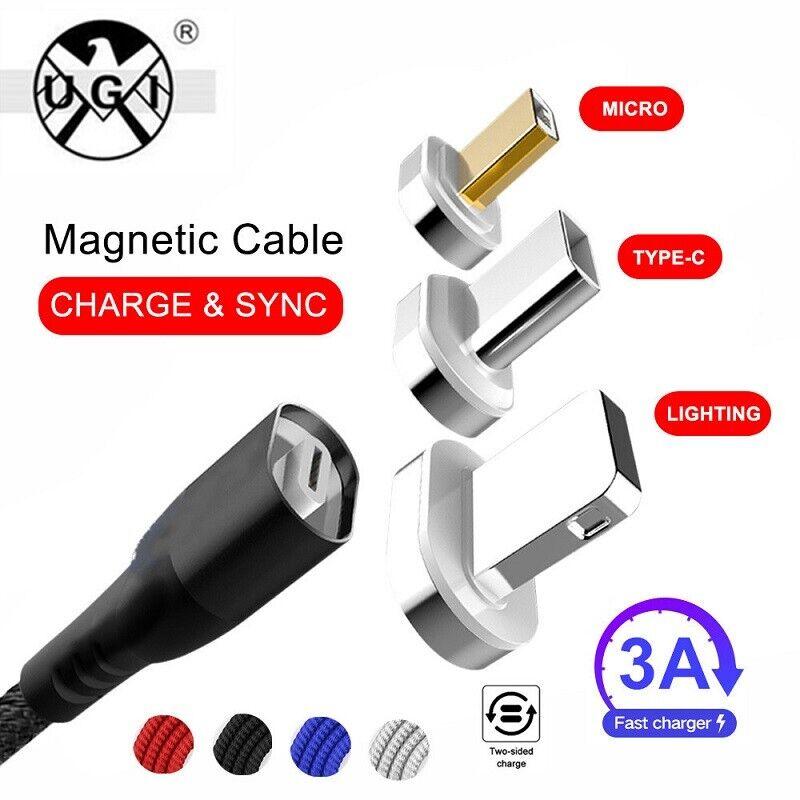 UGI Charging Cable Magnet Nylon USB TYPE C Micro USB Chargin