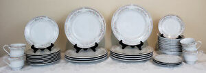 Kentfield and Sawyer Fine Porcelain Set 35 Pieces Dishware Dinnerware Vintage