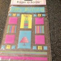 Roger La Borde Stickers Happy Birthday Tiles Gifts Cake Plastic