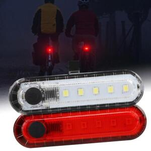 COB-LED-Bicycle-Bike-Cycling-Rear-Tail-Light-USB-Rechargeable-4-Modes-Lamp-ZH