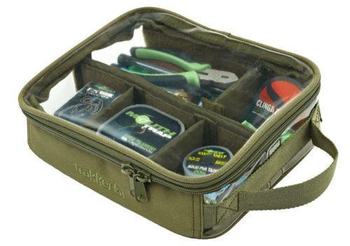 204937 Trakker NEW NXG Luggage Carp Fishing Clear Top Large Bitz Bag