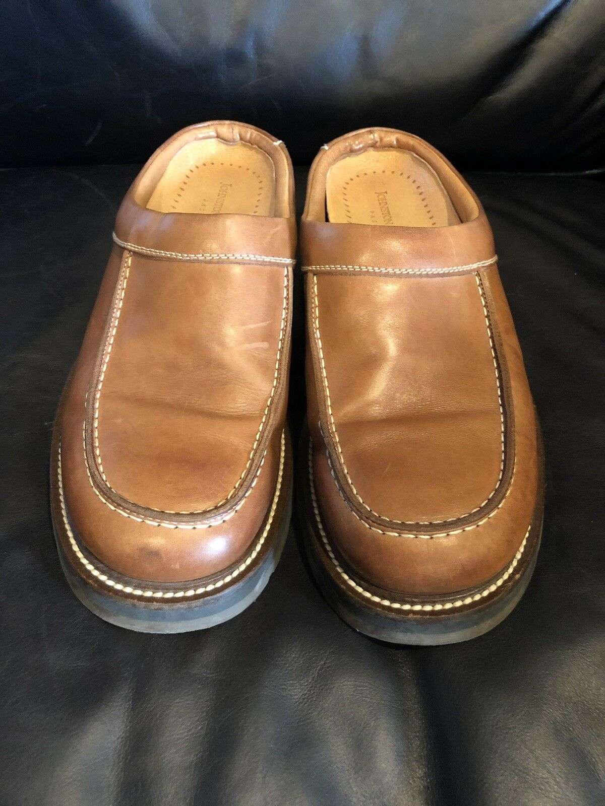 Johnston Murphy Passport Men's Brown Leather Slip On- Size 10.5M