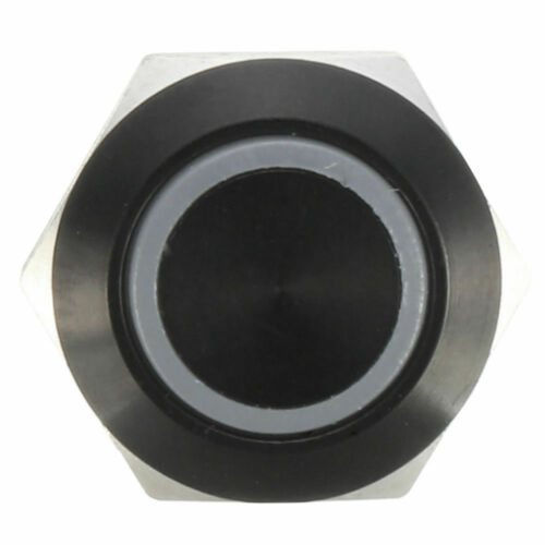 Schwarz 12v 4 Pin 12mm Led Licht Metall Taster Momentary Switch Wasserdicht new