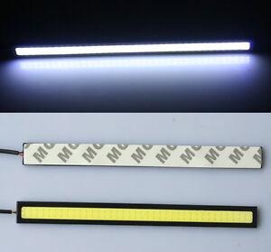 2-X-17cm-Weiss-12V-LED-COB-DRL-Licht-Nebel-Lampe-Tagfahrlichte-Deutsche-Post