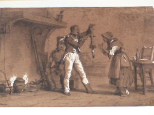 Horace Vernet Soldaten & Waschbär Gravur Litho Highlights Gouache Weiß Xix Promoting Health And Curing Diseases Art Drawings