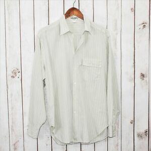 vtg-GIORGIO-ARMANI-Le-Collezioni-Dress-Shirt-Beige-Striped-sz-39