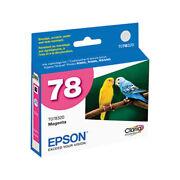 New Epson 78 Series Magenta Ink Cartridge T0783 GENUINE