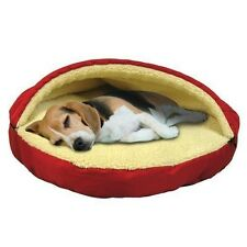 Pet Cave Dog Bed Top Zipper Dome Plush Sherpa Lining Machine Washable