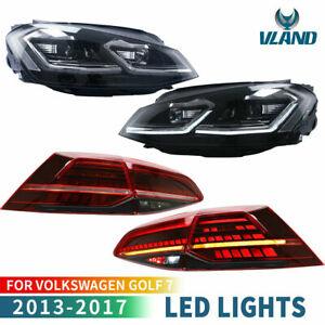 VLAND-pour-2013-2017-VW-Golf-7-MK7-VII-LED-Dynamique-Feux-Arriere-amp-Feux-Avant