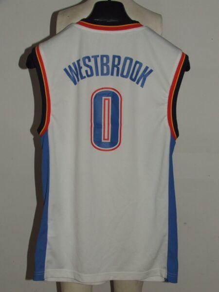Vendita Professionale Maglia Shirt Maillot Canotta Basket Sport Thunder Oklahoma Westbrook 0 Tg. S