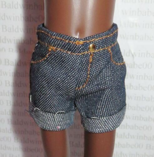 "Denim Knee Hi Cuffed Shorts 18/"" Doll Clothes Fits American Girl Dolls"