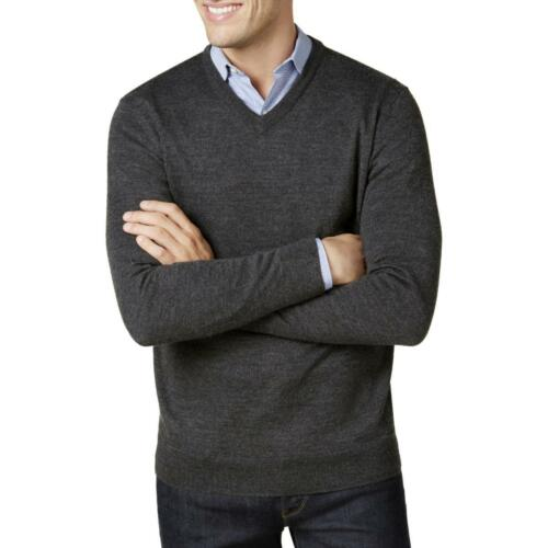 Club Room Mens New $75 Merino Wool Blend V-Neck Sweater Shirt S M L XL 2XL 3XL