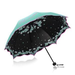 b53a261579e0 Folding Umbrella Windproof UV Ray Protection Modish Flower Pattern ...