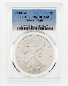 2010-W-1-Silver-American-Eagle-Graded-by-PCGS-as-PR69DCAM
