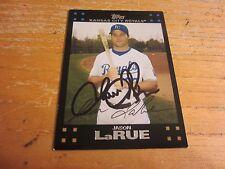 2007 Topps Kansas City Baseball Card #577 Jason Larue
