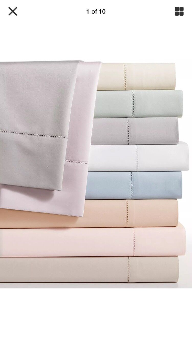 Hotel Collection 680 TC Supima Cotton KING Fitted Sheet, Sky Blau,  235  -New