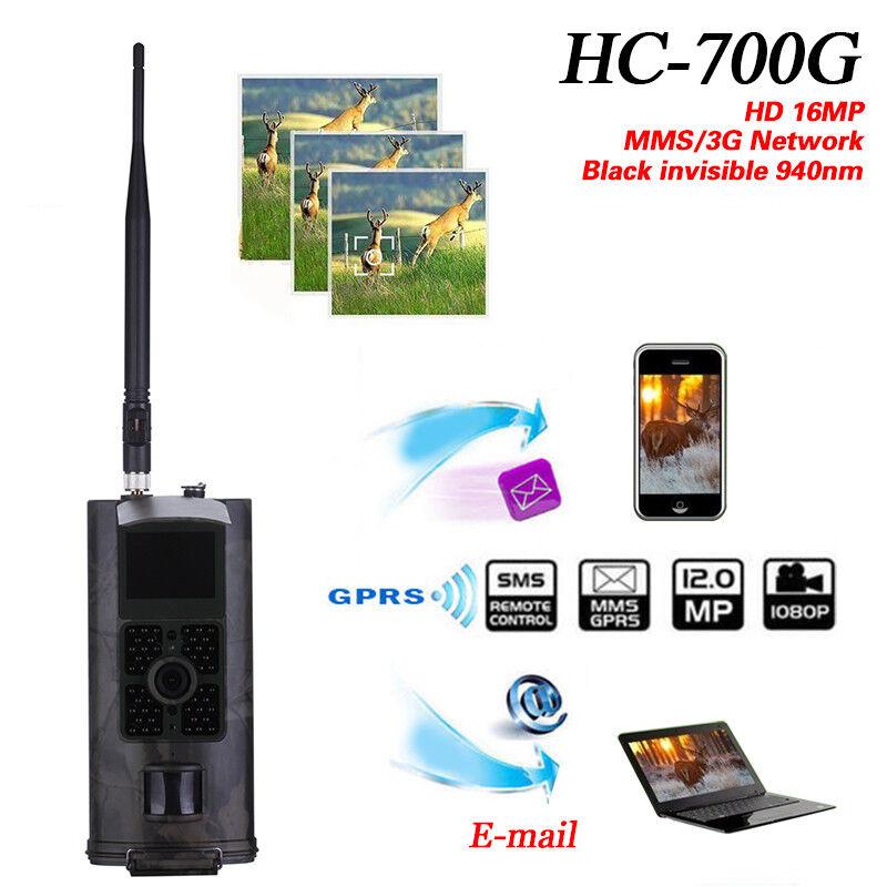 HC700G Hunting Camera 16MP 1080P Trail Cameras Trap 3G GPRS MMS SMS Equip Lot
