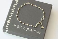 "Silpada NEW ""Venice"" Sterling Silver Ball Bead Italian Made Bracelet B3006 NEW"