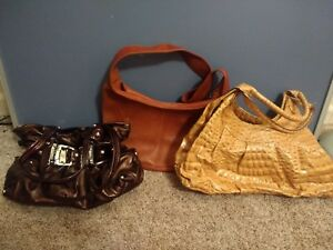 Details About New Directions Kathy Wilson Leather Tan Brown Hobo Shoulder Bag Purse Lot