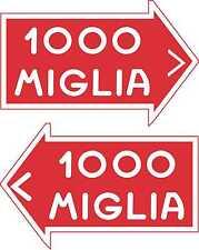 Etiqueta del Coche de Carreras nostálgico 1000 Mille Miglia Monte Carlo Rally Motorsport Pegatina