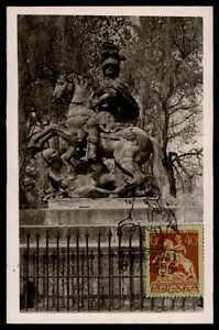 POLEN-MK-1956-WARSCHAU-REITER-DENKMAL-PFERD-HORSE-MAXIMUMKARTE-MAXI-CARD-MC-df08