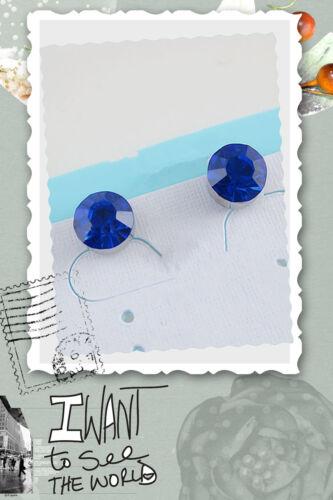 Boucles d/'oreilles 1 paire aimant magnetique strass bleu 3mm meilleure vente