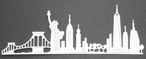/'New York/' die-cuts in a black or white card 6 Signature Dies Skyscapes